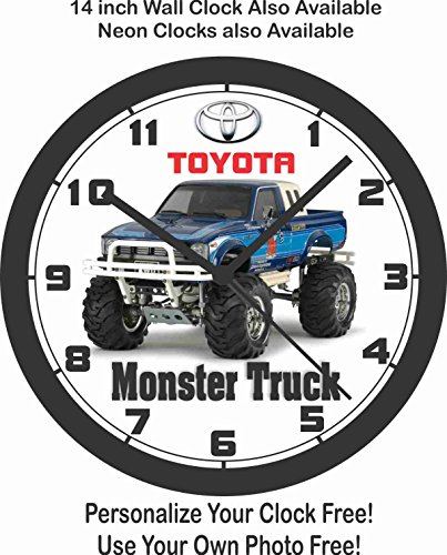 Muscle Car Memories Toyota Pickup Monster Truck Wall Clock-Free USA Ship!