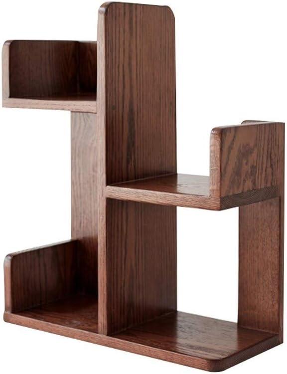 デザートストアデスクトップ装飾、展示ホール図書館学校のマガジンラック - ホテルアパートメントホームステイLP表示内閣 (Color : Brown, Size : 45*20*55cm)