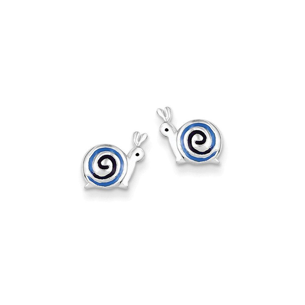 Goldia Sterling Silver Enameled Post Earrings