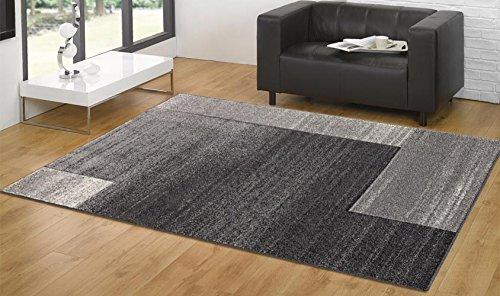 Tappeto moderno disegno astratto - Tappeto soggiorno moderno grigio ...