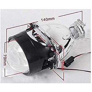 "2.5"" Mini Bi-Xenon H1 Projector Lens w/Shroud plus H1 6000K HID Conversion Kit Combo Deal For Headlight Retrofit"