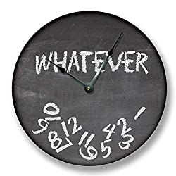 Fancy This Whatever Wall Clock Black Chalkboard Image Teacher Student Gift
