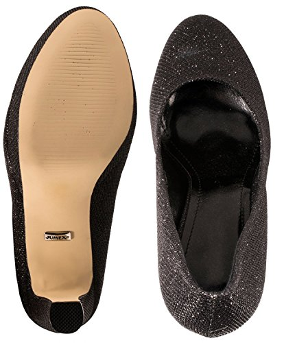 Schwarz chaussures Elara femme chaussures Elara compensées femme compensées nI78qgW0w