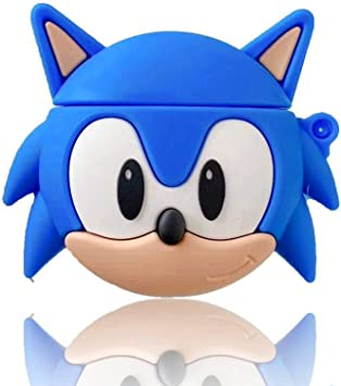 Amazon Com Sonic The Hedgehog For Airpods 3d Cartoon Anime Game Characters Cute Design Accessories Carabiner Protective Fun Fashion Character Skin Soft Silicone Cover For Air Pods 2 1 Sonic The Hedgehog Home Audio