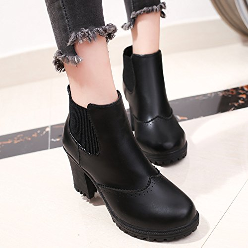 All Heeled Female black High Boots Fall Match 1Or14n7