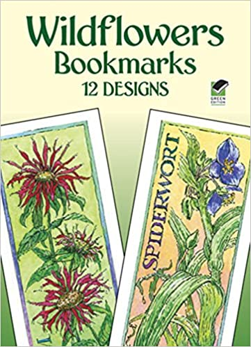 wildflowers bookmarks 12 designs dover bookmarks