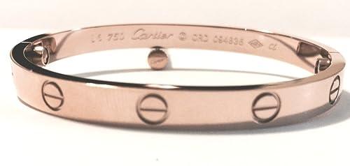 378c999da7cd Oficial Celebrity Cartier imitación oro rosa Screw Love pulsera de ...