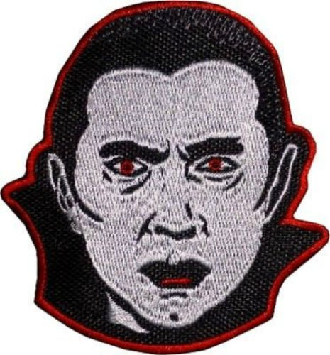 Count Dracula Patch Embroidered Iron / Sew on Badge Horror Movie Bela Lugosi Costume Souvenir Applique -