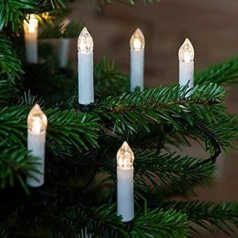 20er Set LED Weihnachtskerzen warmweiß Fernbedienung H-Lights Sonderangebot