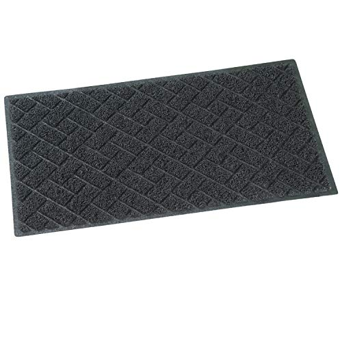 (QYH Floor Mat Indoor Outdoor Entrance Doormat Non-Slip Welcome Front Door Mat Washable Dirty Trapper Carpet Rubber Backing Area Rug Durable Patio Scraper Turf (29.5