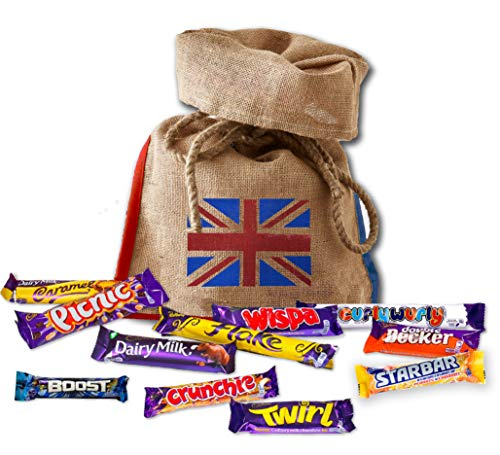 Cadbury's chocolate 11 full size British chocolates | English Candy Best chocolates | British Gifts UK Candy Bars - Box Selection Christmas