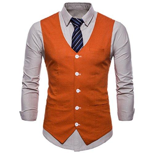 Maniche Juleya Slim Senza Arancia In Solid Gilet Size 9 Uomo Plus Colori Business Lino Social Moda Ug7BUwq