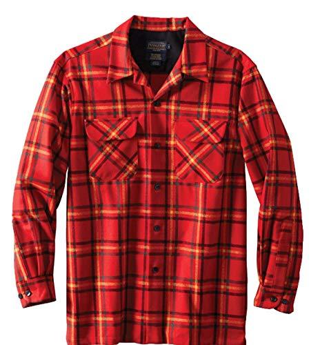 (Pendleton Men's Classic Fit Long Sleeve Board Shirt, Rainier Park Plaid, XXXL )