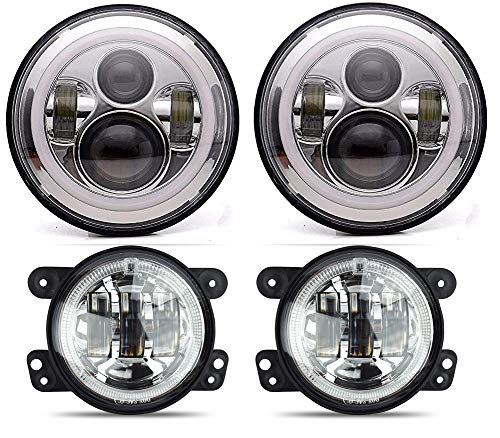 (ANR LED HALO HEADLIGHT Compatible Jeep Wrangler 97-2018 - 7