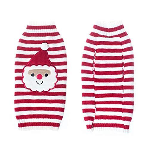 MEIZOKEN Christmas Knit Crochet Dog Sweater Cothes for Dachshunds Dog Santa Claus Costume Golden Retriever Big Dog Coat Jacket Clothing