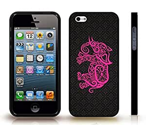 iStar Cases? iPhone 4 Case with Pink Elephant made with Patterns on a Black Pattern Background , Snap-on Cover, Hard Carrying Case (Black)