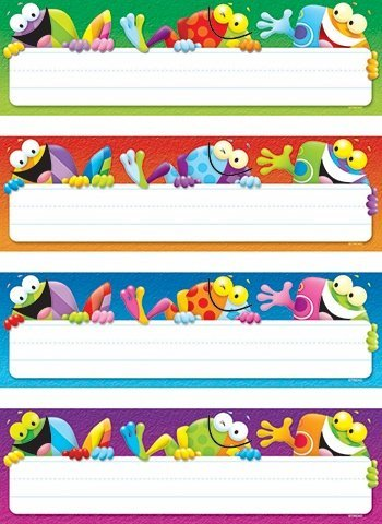 (4 X Frog-tastic! Desk Toppers Name Plates Variety Pack)