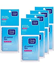 Oil Control Film Blotting Paper, Clean & Clear Oil-absorbing Sheets, 60 Sheets (Pack of 5)