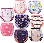 MoMoo Baby 8 Packs Potty Training Pants Cotton Absorbent Training Underwear for Toddler Baby Boy and Girls