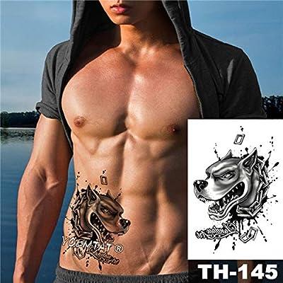 tzxdbh 5Pcs-Etiqueta engomada del Tatuaje a Prueba de Agua Patrón ...