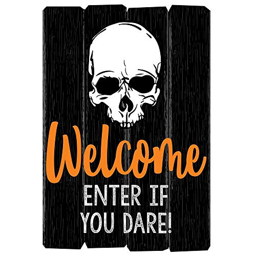 Halloween Enter If You Dare Light Up Welcome Sign, Halloween Party Decorations, Door or Window Sign Decoration]()