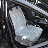 Amzdeal Pet Front Seat Cover Waterproof Nonslip Dog Mat for Cars Trucks Suvs (Gray)