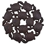 Import Wholesales Baby Turtles Decorative Stepping Stone Rust Brown Cast Iron 10.25″ Wide Flagstone