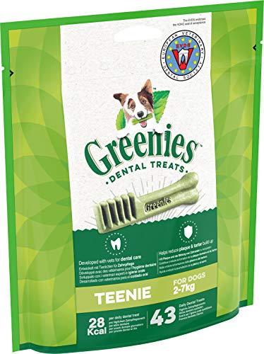 Greenies Teenie tägliche Zahnpflegesnacks, Kausnacks für Hunde von 2-7 kg