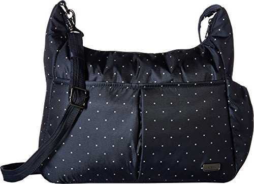 Pacsafe Anti-theft Crossbody Bag (Navy Polka Dot)