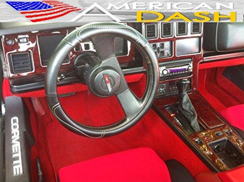 CHEVROLET CHEVY CORVETTE C-4 INTERIOR WOOD DASH TRIM KIT SET 1984 - Corvette C4 Interior