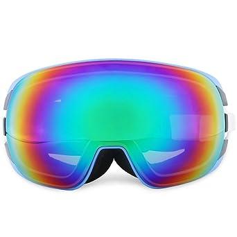 Skibrille UV400 Schutz Skibrille Anti-Fog-Beschichtung Double Lens Professionelle Snowboard Skate Ski Goggles (Color : Black) BuQsSDA7