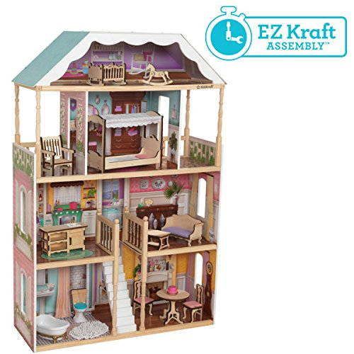 51Q dsIHrDL - KidKraft So Chic Dollhouse with Furniture