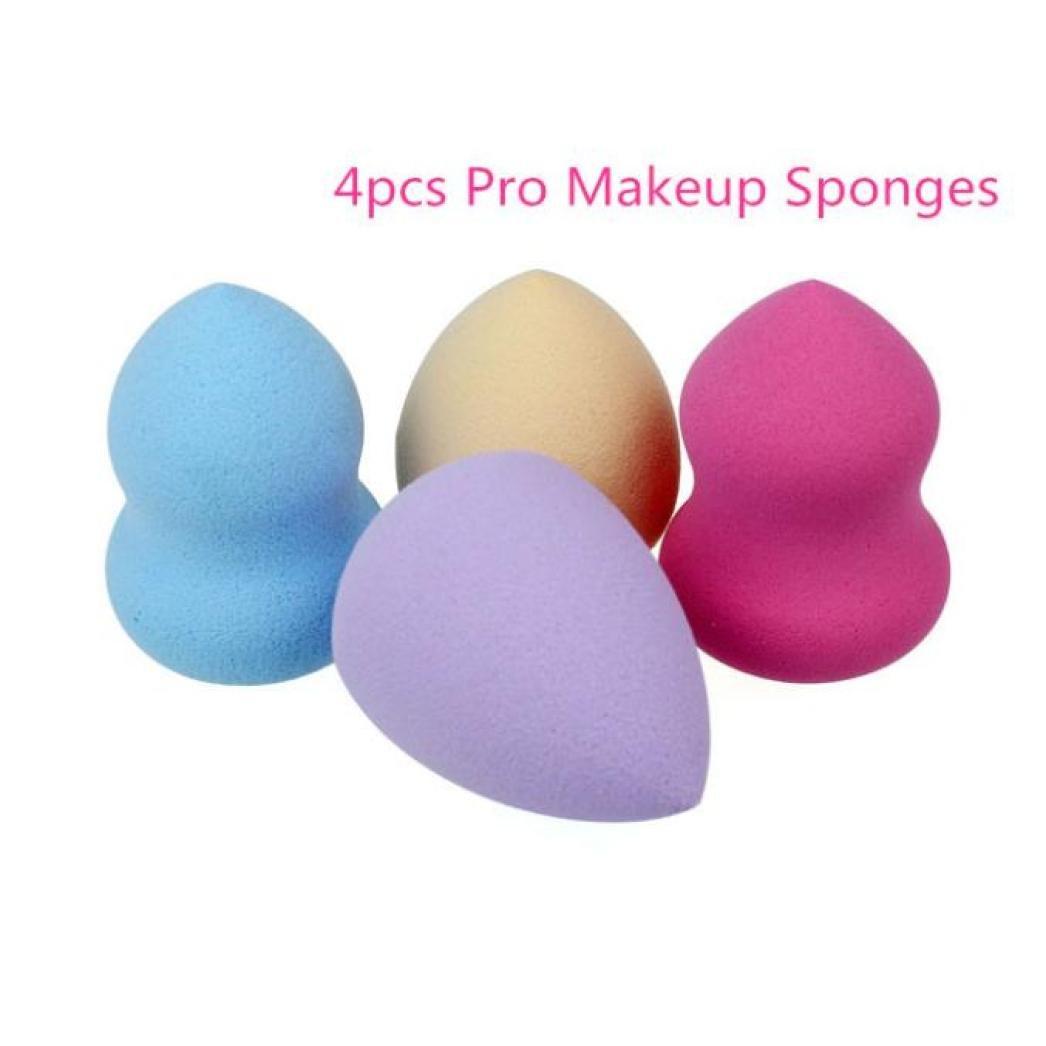 éponges,Longra éponges 4pcs Pro Beauté Sans défaut Maquillage Fondation Blender multi Forme éponges bouffée New