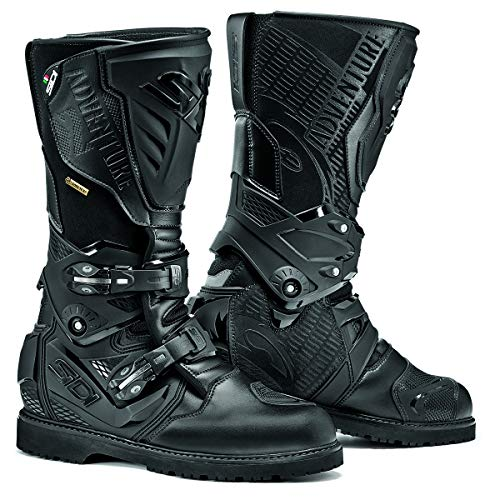 (Sidi Adventure 2 Gore Tex Motorcycle Boots Black US10/EU44 (More Size Options))
