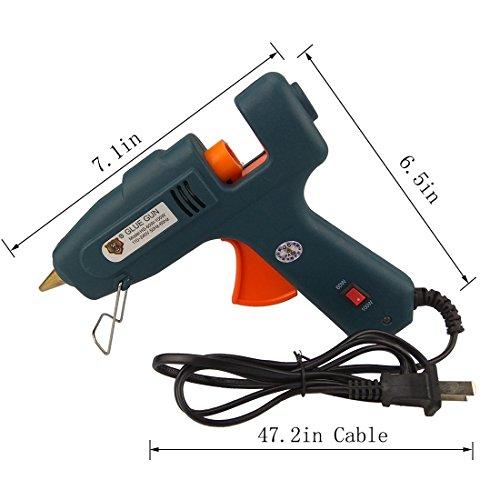 YKHS Hot Glue Gun 60W/100W Dual Power High Temp Heavy Duty Melt Glue Gun Kit—With 20 Pcs Glue Sticks, Electronic Glue Gun