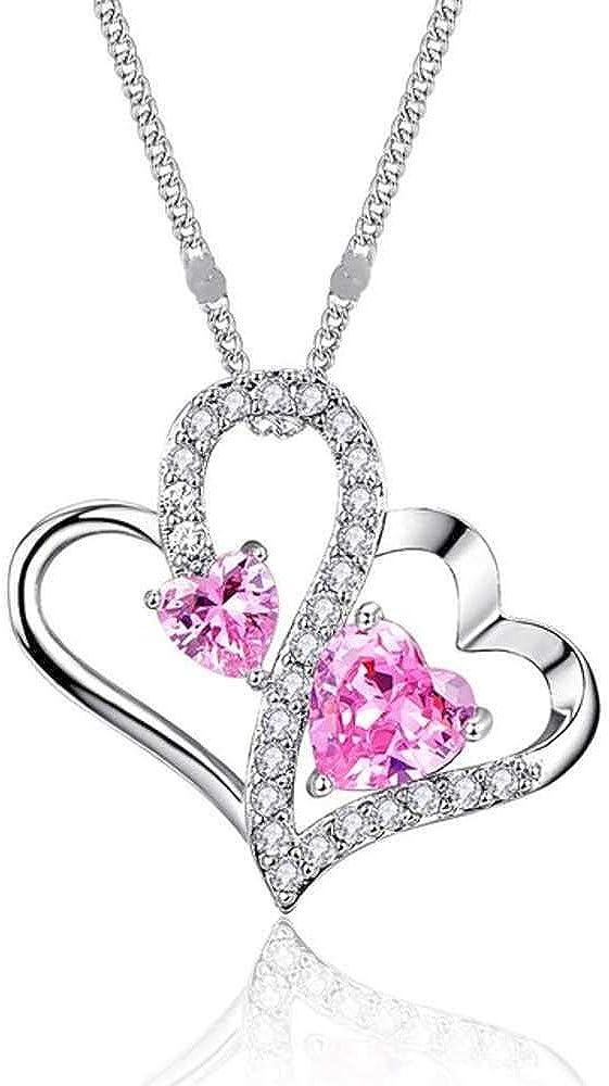 Romántico Cubic Zirconia Corazón Collares con Colgantes Boda Fiesta de Compromiso Gargantilla CollaresJoyas Collares para Mujer Regalos