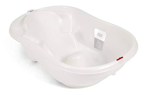 Mamas Papas Acqua Bambino Two Stage Bath With Safety Support Positions For Newborn Baby To 12 Months Pearl White
