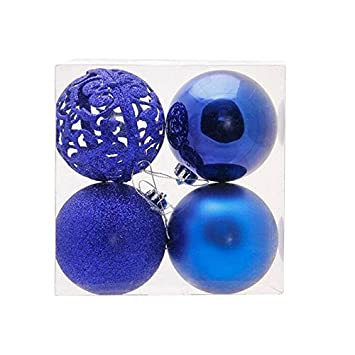 zebery christmas balls baubles glitter christmas trees pendant ball ornament novelty set xmas tree festival party - Navy Blue Christmas Ornaments