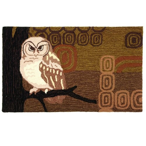 Homefires Accents Retro Owls 22-Inch by 34-Inch Indoor Rug