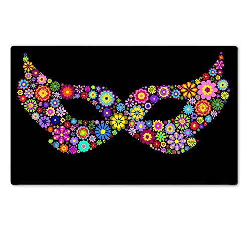 [MSD Natural Rubber Large Table Mat Image ID 14434094 Mardi gras mask] (Mardi Gras Masks Template)