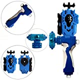 StormGyro Battling Battle String Launcher LR (Left & Right Turning) and Launcher Grip with Weight Damper Set(Blue)