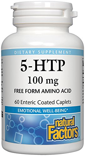 Natural Factors, 5-HTP 100 mg, Support for Emotional Health Without Gastric Discomfort, 60 caplets (60 Servings)