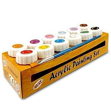 Acrylfarben Set 12 Farben Amazon De Burobedarf Schreibwaren