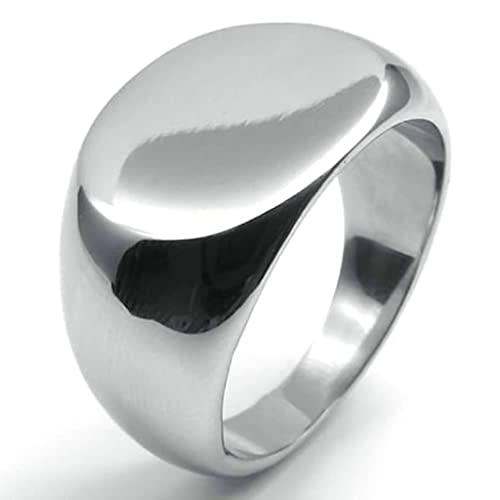 Amazon.com: daesar Acero Inoxidable Anillos Mens Anillos de ...