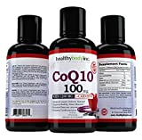 #5: CoQ10 Liquid 100mg HBI Coq10 Premium Absorption Coenzyme Q10 for Heart Heath, Amazing taste Tropical Berry Flavor 32 servings 16oz.