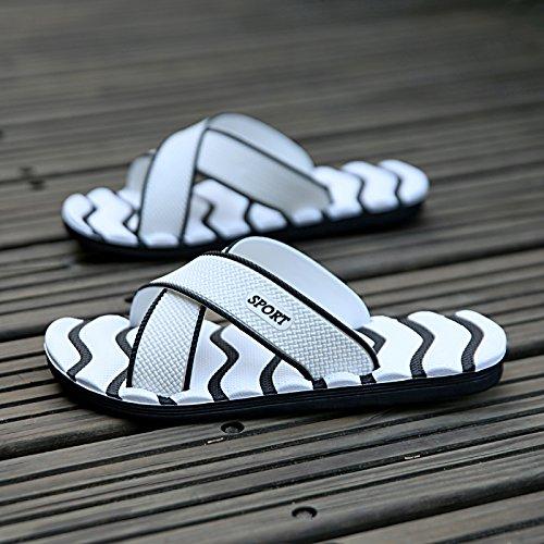 Inicio 45 Flops sandalias y gran diaria hombres hombres de antideslizante Casual zapatillas Sandalias Flip zapatillas Blanco verano transpirable MONAcwe sandalias para tamaño qC17ECw