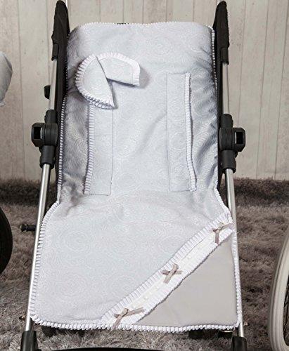 Babyline Bombon - Colchoneta ligera para silla de paseo, color gris