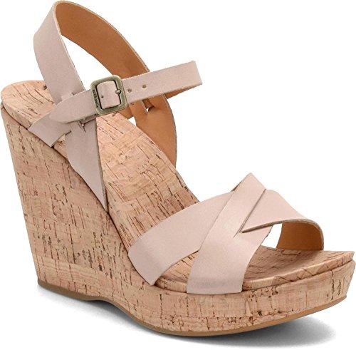 Kork-Ease Women's Bette 2.0 K376 Ankle Strap Sandal (10 B(M) US, Vanilla) Patent Leather Cork Wedge Sandal