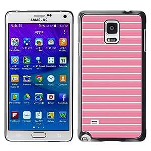 Be Good Phone Accessory // Dura Cáscara cubierta Protectora Caso Carcasa Funda de Protección para Samsung Galaxy Note 4 SM-N910 // lines summer teal pink pattern clean
