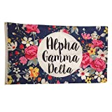 Alpha Gamma Delta Floral Pattern Letter Sorority Flag Greek Letter Use as a Banner Large 3 x 5 Feet Officially Licensed Flags and Decor in Official...